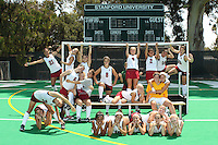 STANFORD, CA - AUGUST 18:  (Not in order) Camille Gandhi, Midori Uehara, Jaimee Erickson, Nora Soza, Katie Mitchell, Rachel Mozenter, Becky Dru, Xanthe Travlos, Stephanie Byrne, Jennifer Luther, Alysha Sekhon, Heather Alcorn, Colleen Ryan, Katherine Swank, Emily Henriksson, Kelsey Lloyd, Marlana Shile, Devon Holman, Rachel Bush, Katherine Donner, Beth Ridley, Alessandra Moss, and Julie LaSalvia on picture day after Stanford's 3-1 win over University of the Pacific in a scrimmage at the Varsity Turf Field on August 18, 2009 in Stanford, California.