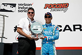 Verizon IndyCar Series<br /> ABC Supply 500<br /> Pocono Raceway, Long Pond, PA USA<br /> Sunday 20 August 2017<br /> Takuma Sato, Andretti Autosport Honda receives Verizon P1 pole award<br /> World Copyright: Michael L. Levitt<br /> LAT Images