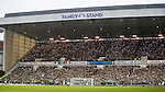 Celtic fans in the Broomloan Road stand