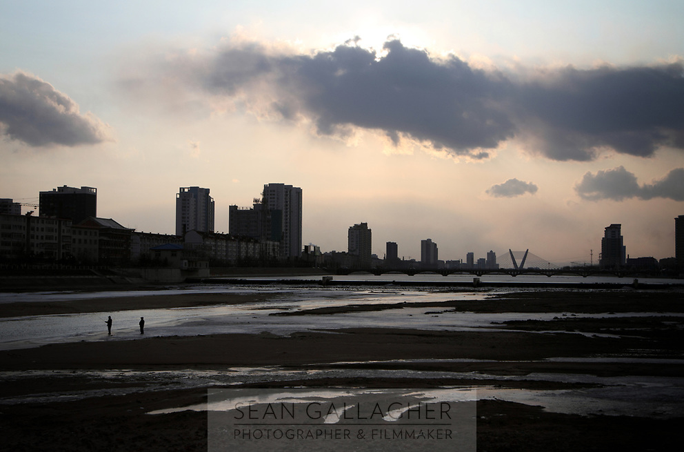 China. Jilin Province. A view of the town of Yanji at sunset, close to the border with North Korea. The town is part of the Korean Autonomous Prefecture in the north-east of the country. 2011