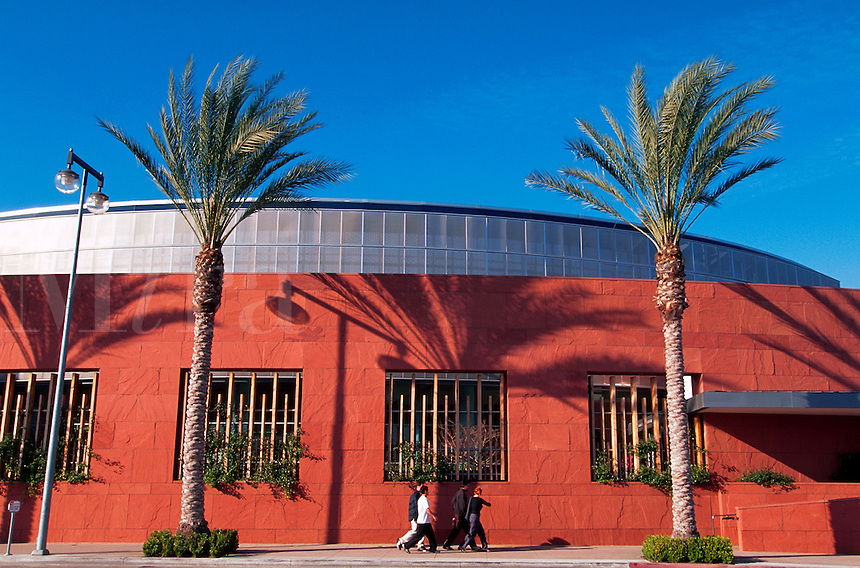 The exterior of the Japanese American National Museum. Los Angeles, California.