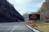 Road sign advertising the Remote Area Medical (RAM) event. Over the weekend at Soft Shell, Knott County, in the Appalachian mountains of eastern Kentucky, the congressional district with the nation's lowest life expectancy, RAM volunteers saw 822 needy people. 95 percent of people seen were provided with dental or optical care. RAM was founded in 1985 to provide free health, dental and eye care in the developing world. However, RAM now provides 60 percent of its services in the US, providing for the estimated 47 million Americans without health insurance..
