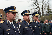 jacques Duchesneau<br />  (m) attend<br /> <br /> Policeman's funerals circa 2003<br /> <br /> FILE PHOTO : Agence quebec Presse