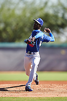 Los Angeles Dodgers pitcher Yadier Alvarez (40) during an Instructional League game against the Cleveland Indians on October 10, 2016 at the Camelback Ranch Complex in Glendale, Arizona.  (Mike Janes/Four Seam Images)