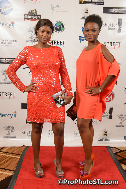 Red carpet shots during the second day of St. Charles Fashion Week 2012 in St. Charles, MO on Aug 23, 2012.