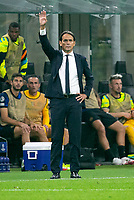 Milan, Italy - september 15 2021 - simone inzaghi inter coach Inter- Real Madrid champions league