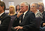 Jack Calvert, of Minden, attends the opening ceremony of the Always Lost: A Meditation on War exhibit at the Legislative Building in Carson City, Nev., on Monday, April 6, 2015. <br />