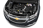 High angle engine detail of a 2013 Chevrolet CRUZE LTZ 5 Door Hatchback 2WD