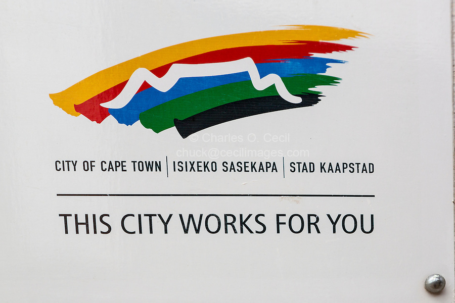 South Africa, Cape Town.  Municipal Logo and Motto.