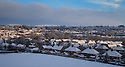 30/01/15<br /> <br /> The picturesque view over Ashbourne after heavy overnight snowfall in the Derbyshire Peak District.<br /> <br /> All Rights Reserved - F Stop Press.  www.fstoppress.com. Tel: +44 (0)1335 418629 +44(0)7765 242650