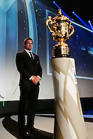 LONDON, ENGLAND - NOVEMBER 01:  Richie McCaw of New Zealand poses next to the Webb Ellis cup during the World Rugby Awards 2015 at Battersea Evolution on November 1, 2015 in London, England.  (Photo: World Rugby)