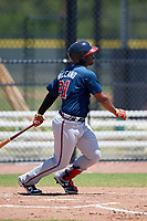 Atlanta Braves Nicholas Vizcaino (91) during a Minor League Extended Spring Training game against the Tampa Bay Rays on April 15, 2019 at CoolToday Park Training Complex in North Port, Florida.  (Mike Janes/Four Seam Images)
