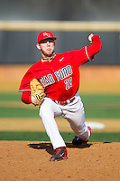 Radford Highlanders relief pitcher Kyle Palmer (29) in action against the Missouri Tigers at Wake Forest Baseball Park on February 21, 2014 in Winston-Salem, North Carolina.  The Tigers defeated the Highlanders 15-3.  (Brian Westerholt/Four Seam Images)