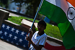 People celebrate Indian Independence day Parade in Jersey City