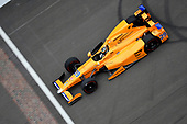Verizon IndyCar Series<br /> Fernando Alonso Test for Indianapolis 500<br /> Indianapolis Motor Speedway, Indianapolis, IN USA<br /> Wednesday 3 May 2017<br /> Fernando Alonso turns his first career laps on an oval in preparation for his Indianapolis 500 debut.<br /> World Copyright: Walt Kuhn<br /> LAT Images