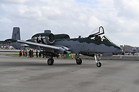 FORT LAUDERDALE FL - NOVEMBER 19: The Fairchild Republic A-10 Thunderbolt II is seen on the tarmac during press day for the Fort Lauderdale Air Show at the Fort Lauderdale-Hollywood International Airport on November 19, 2020 in Fort Lauderdale, Florida. Credit: mpi04/MediaPunch