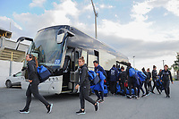 20190301 - LARNACA , CYPRUS : Italian team arrives at the stadium pictured during a women's soccer game between Hungary and Italy , on Friday 1 March 2019 at the GSZ Stadium in Larnaca , Cyprus . This is the second game in group B for both teams during the Cyprus Womens Cup 2019 , a prestigious women soccer tournament as a preparation on the FIFA Women's World Cup 2019 in France . PHOTO SPORTPIX.BE | STIJN AUDOOREN