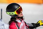 Brayden Luscombe, PyeongChang 2018 - Para Alpine Skiing // Ski para-alpin.<br /> Brayden Luscombe skis in the men's standing super-G // Brayden Luscombe skis en super-G debout masculin. 11/03/2018.
