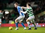 Celtic v St Johnstone…25.01.17     SPFL    Celtic Park<br />Steven MacLean holds off Erik Sviatchenko<br />Picture by Graeme Hart.<br />Copyright Perthshire Picture Agency<br />Tel: 01738 623350  Mobile: 07990 594431