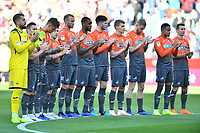 players of Swansea City take part in one minutes applause during the Sky Bet Championship match between Aston Villa and Swansea City at Villa Park in Birmingham, England, UK.  Saturday 20 October  2018