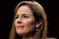 Judge Amy Coney Barrett, during the third day of her Senate confirmation hearing to the Supreme Court on Capitol Hill in Washington, DC on October 14, 2020. <br /> CAP/MPI/RS<br /> ©RS/MPI/Capital Pictures