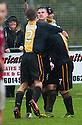 Steven Notman celebrates after he scores Berwick's goal.