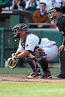 Buffalo Bisons catcher Raul Chavez #19 during a game against the Syracuse Chiefs at Dunn Tire Park on April 7, 2011 in Buffalo, New York.  Syracuse defeated Buffalo 8-5.  Photo By Mike Janes/Four Seam Images