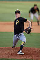 Bristol Pirates relief pitcher John O'Reilly (50) delivers a pitch during a game against the Elizabethton Twins on July 28, 2018 at Joe O'Brien Field in Elizabethton, Tennessee.  Elizabethton defeated Bristol 5-0.  (Mike Janes/Four Seam Images)