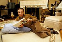 EXCLUSIF -  Jacques Boulanger<br /> chez lui dans les annees 80<br /> <br /> PHOTO : Jean-Pierre Karsenty - PUBLIPHOTO - AGENCE QUEBEC PRESSE