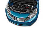 High angle engine detail of a  2014 Nissan Versa Note SV SL Hatchback 2014 Nissan Versa Note SV SL Hatchback