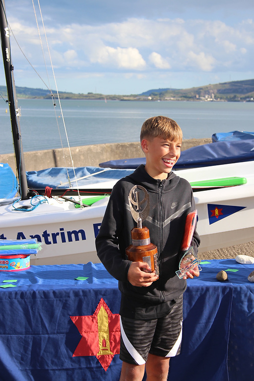 Howth Yacht Club's Des Turvey Wins Optimist Ulsters at Larne's East Antrim Boat Club