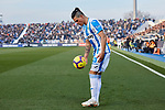 CD Leganes' Jonathan Cristian Silva during La Liga match between CD Leganes and Sevilla FC at Butarque Stadium in Leganes, Spain. December 23, 2018. (ALTERPHOTOS/A. Perez Meca)