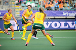 The Hague, Netherlands, June 01: Player of South Africa tries to block a shot during the field hockey group match (Women - Group B) between Argentina and South Africa on June 1, 2014 during the World Cup 2014 at Kyocera Stadium in The Hague, Netherlands. Final score 4:1 (2:0) (Photo by Dirk Markgraf / www.265-images.com) *** Local caption ***
