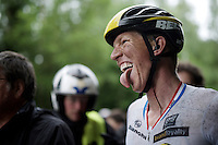 'happy' face for stage winner and new overall leader Sep Vanmarcke (BEL/LottoNL-Jumbo) <br />