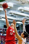 Chan Cheung Man #13 of SCAA Men's Basketball Team tries to score against the Eastern Long Lions during the Hong Kong Basketball League game between Eastern Long Lions and SCAA at Southorn Stadium on May 29, 2018 in Hong Kong. Photo by Yu Chun Christopher Wong / Power Sport Images