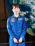 "Astronaut Naoko Yamazaki attends the press conference for Brad Pitt's movie ""Ad Astra"" on September 12, 2019, at Miraikan in Tokyo, Japan. The film opens on September 20 in Japan. (Photo by Tomoko Tanaka/AFLO)"