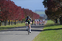 Alex Heaney during the Under-23 and Senior Men's road race, Carterton-Martinborough-Gladstone circuit. Day three of the 2018 NZ Age Group Road Cycling Championships in Carterton, New Zealand on Sunday, 22 April 2018. Photo: Dave Lintott / lintottphoto.co.nz