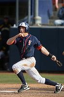 February 21 2010: Gary Brown of Cal. St. Fullerton during game against Cal. St. Long Beach at Goodwin Field in Fullerton,CA.  Photo by Larry Goren/Four Seam Images