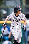 #27 Mitsuura Sakura of Japan runs after bating during the BFA Women's Baseball Asian Cup match between Japan and Hong Kong at Sai Tso Wan Recreation Ground on September 5, 2017 in Hong Kong. Photo by Marcio Rodrigo Machado / Power Sport Images
