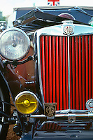 Detail of an MG Vintage Car