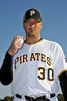 Feb 28, 2010; Bradenton, FL, USA; Pittsburgh Pirates  pitcher Tyler Yates (30) during  photoday at Pirate City. Mandatory Credit: Tomasso De Rosa/ Four Seam Images