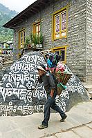 Porter in Lukla, Nepal