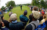 PGA golfer Vijay Singh watches his tee shot during the 2007 Wachovia Championships at Quail Hollow Country Club in Charlotte, NC.