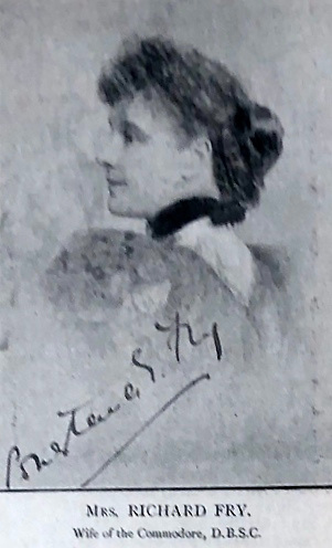 Constance Fry, noted helmswoman in the early days of DBSC, as featured in Yachting World in 1894