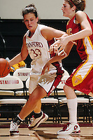 30 December 2005: Jillian Harmon during the Stanford Cardinal's 77-56 win against the USC Trojans at Maples Pavilion in Stanford, CA.