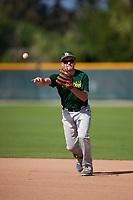 Christopher Ayres (24), of Collegeville, Pennsylvania, while playing for the Athletics during the Baseball Factory Pirate City Christmas Camp & Tournament on December 28, 2017 at Pirate City in Bradenton, Florida.  (Mike Janes/Four Seam Images)