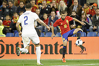 Spain's Jordi Alba (r) and England's Kyle Walker during international friendly match. November 13,2015.(ALTERPHOTOS/Acero)