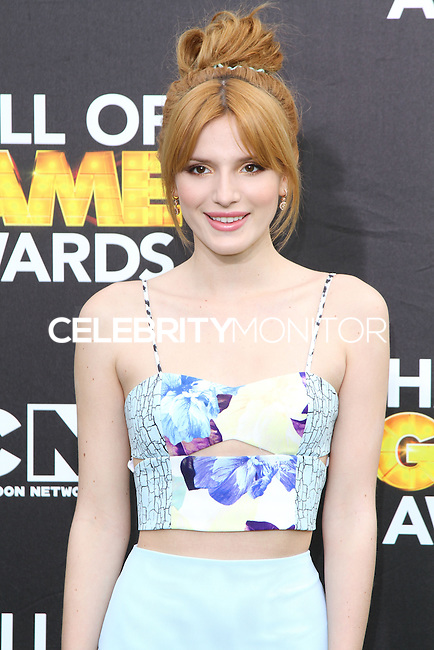 SANTA MONICA, CA, USA - FEBRUARY 15: Bella Thorne at the 4th Annual Cartoon Network Hall Of Game Awards held at Barker Hangar on February 15, 2014 in Santa Monica, California, United States. (Photo by David Acosta/Celebrity Monitor)