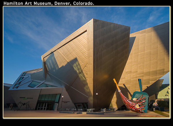 The area around Civic Center Park has lots to offer. <br /> Sunrise at the Hamilton Art Museum, Denver, Colorado. .  John offers private photo tours in Denver, Boulder and throughout Colorado. Year-round Colorado photo tours.