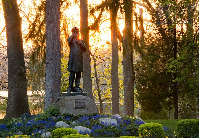 May 1, 2013; Statue of Rev. William Corby, C.S.C. blessing the soldiers at the Battle of Gettysburg...Photo by Matt Cashore/University of Notre Dame